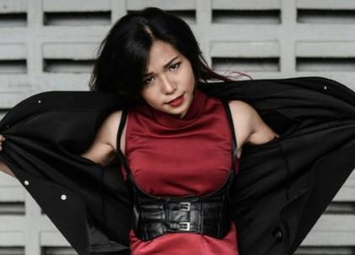 """Malaysian pro wrestler Alydia Abdul Wahab aka """"Scarlet Lyd"""""""