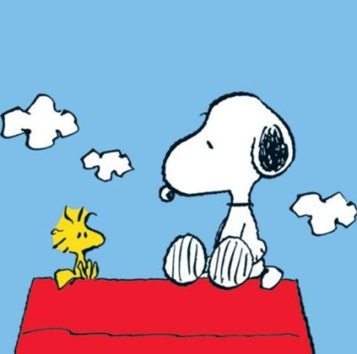 Snoopy and Woodstock from Peanuts