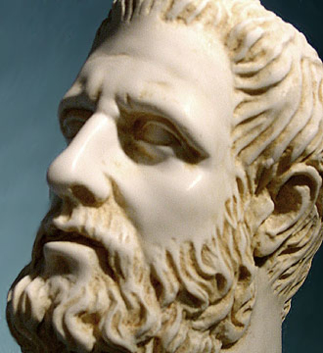 Yes! This is a real photo of Hippocrates.