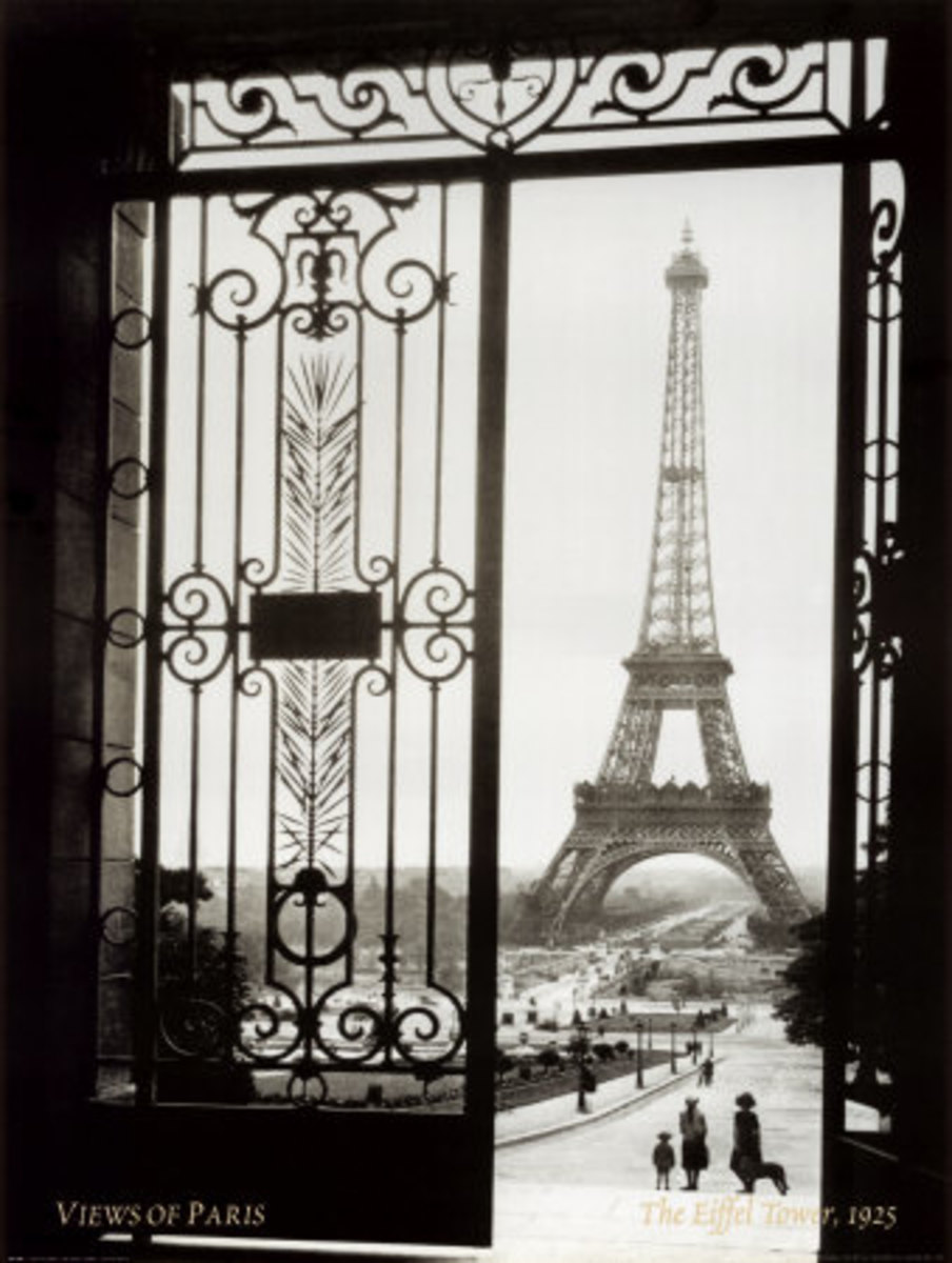 A view of the Eiffel Tower