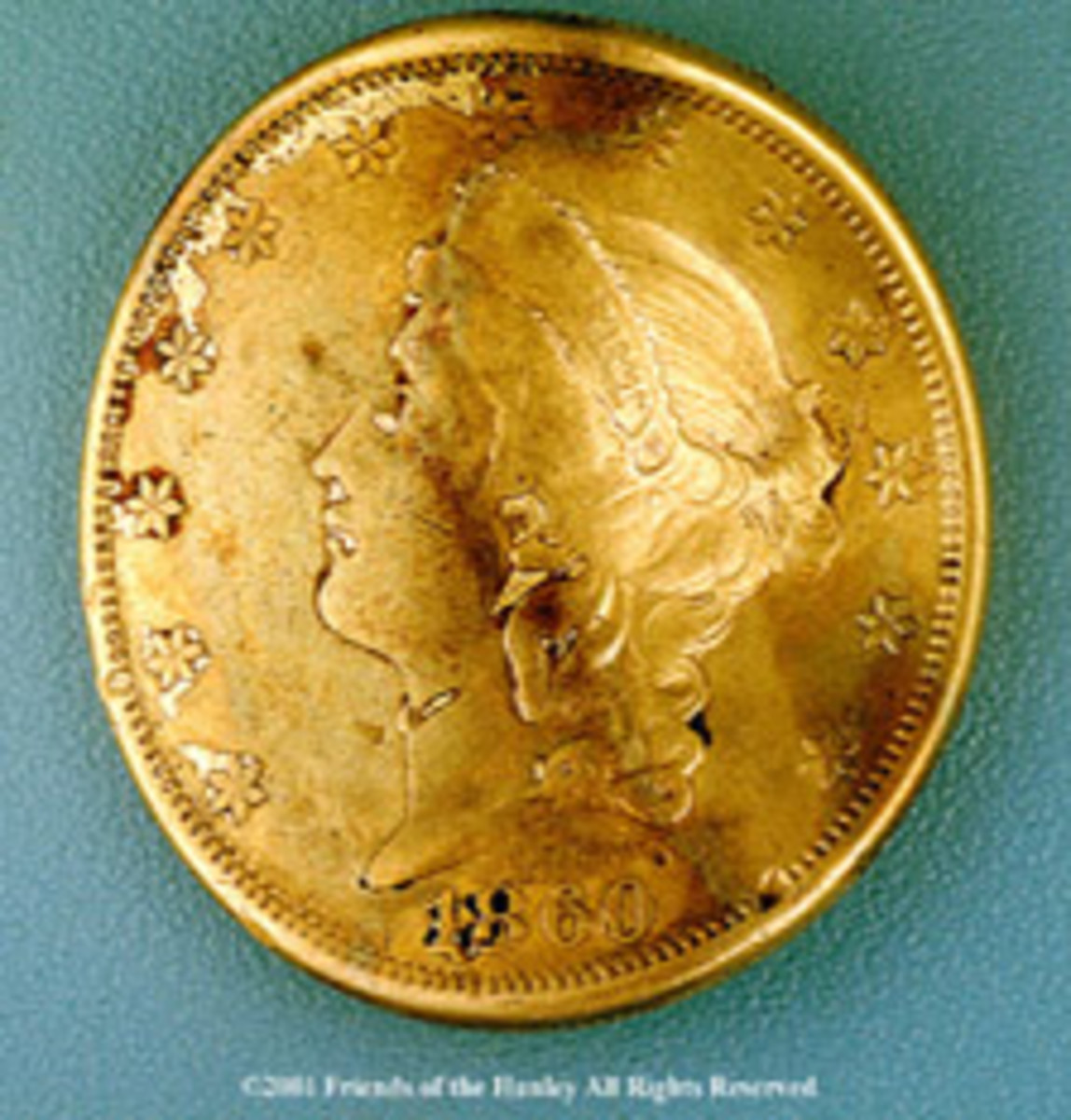 The $20 gold piece that save Dixon's life during theBattle of Shiloh