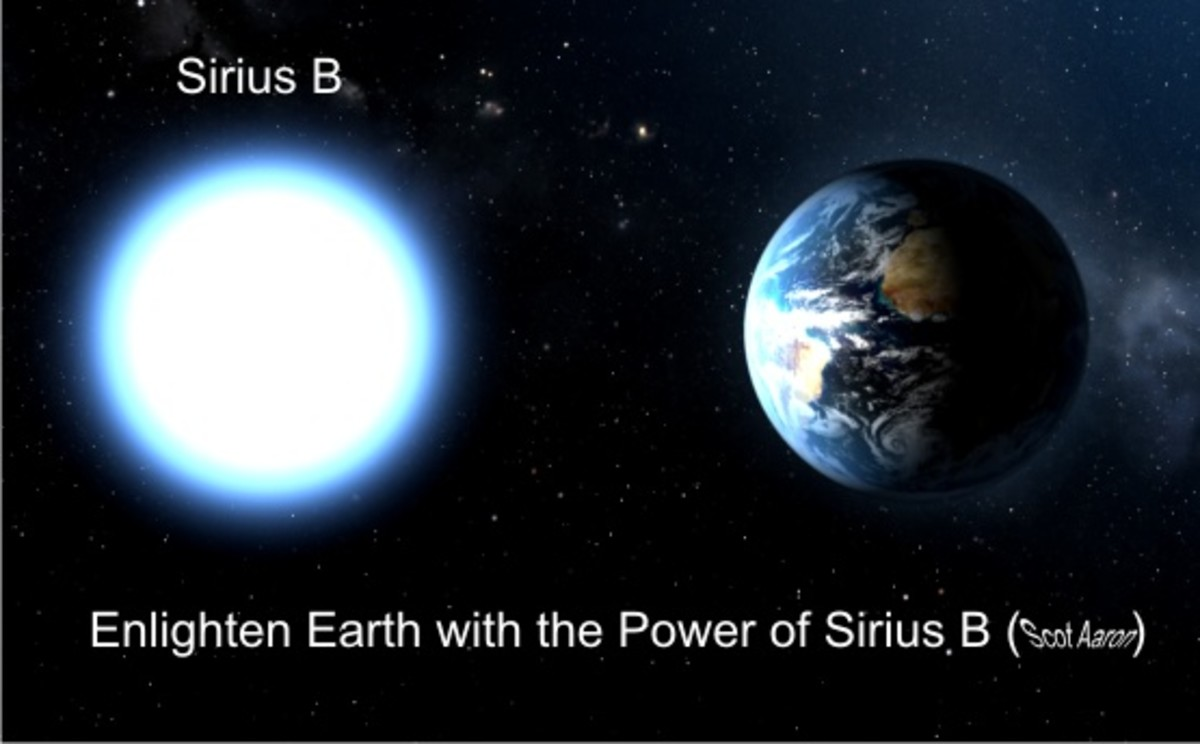 Sirius B, on the left and shining brightly, helps us to realize the perfection of light around us