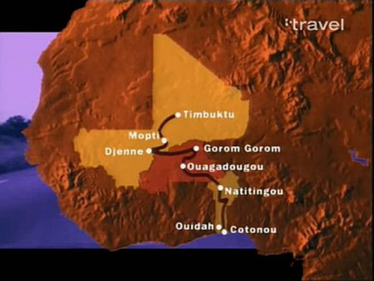The general map and location of the Dogon in West Africa