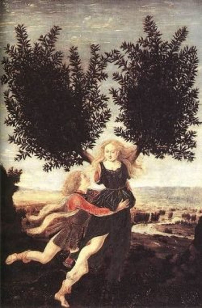Apollo and Daphne, Piero Pollaiuolo,15th century.