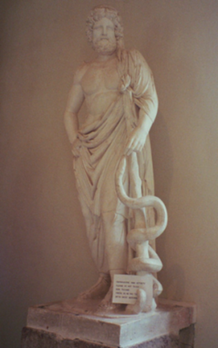 Asklepios statue from Epidaurus (own photo)