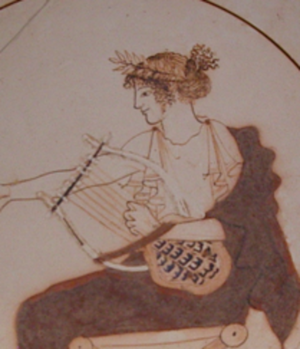 Apollo on Cup from Delphi (own photo)