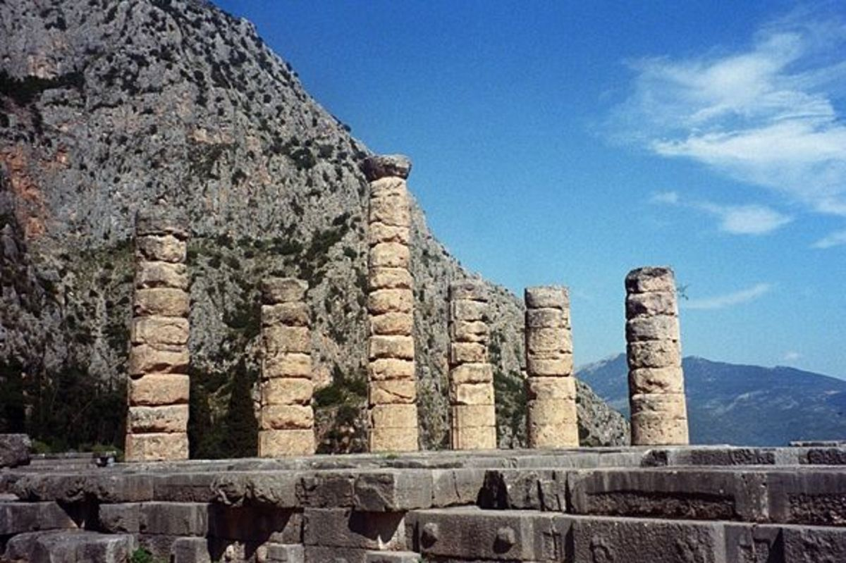 Temple of Apollo at Delphi, home of Apollo's famous oracle