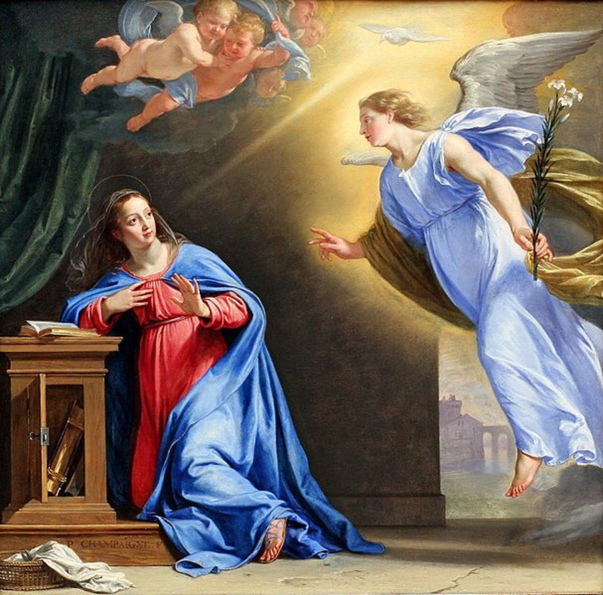 The Annunciation by Philippe de Champaigne, 1644. Image courtesy of Wiki Commons