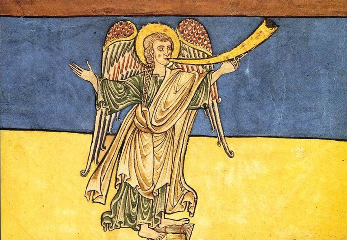 Seventh Angel of the Apocalypse Proclaiming the Reign of the Lord, c. 1180. Image courtesy of Wiki commons