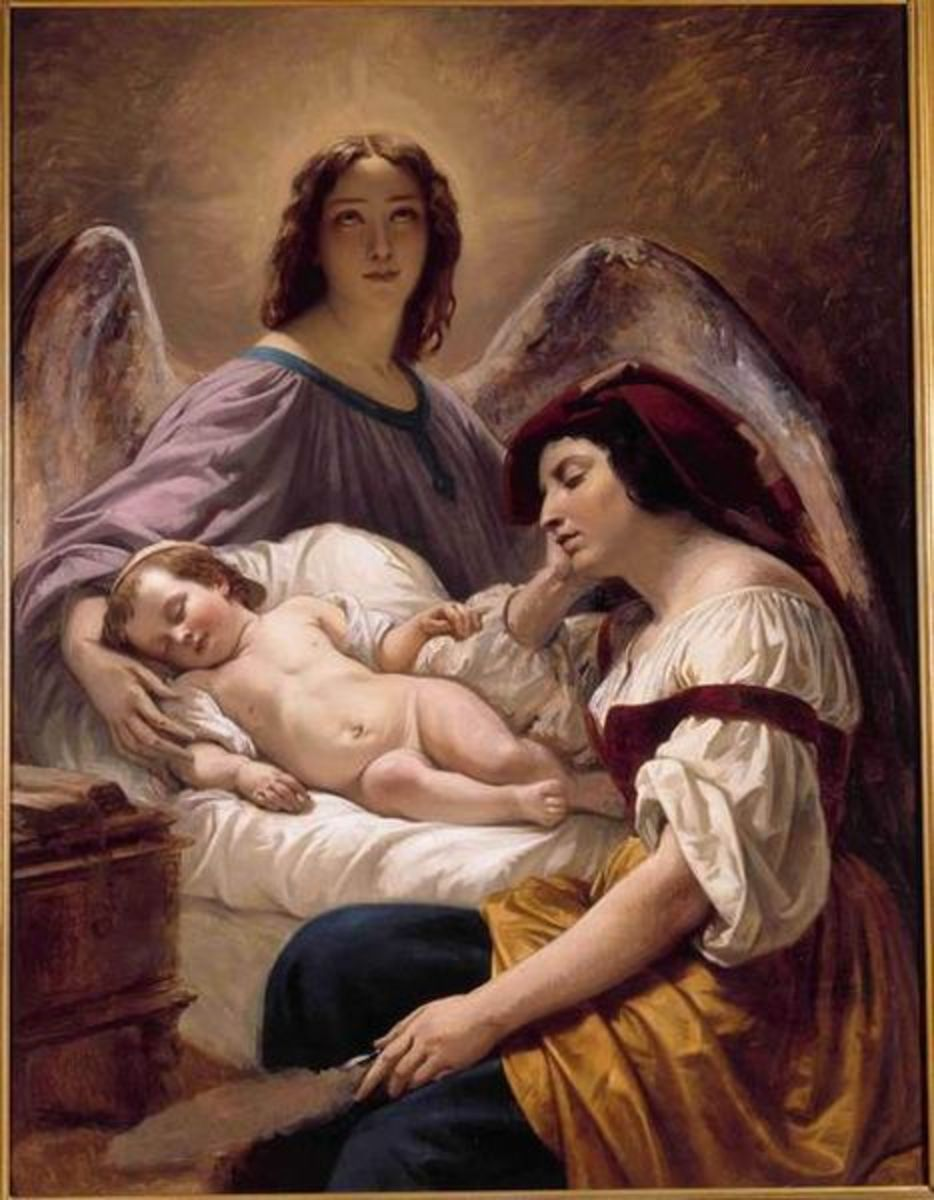 The Guardian Angel by Henri Decaisne, 1836. image courtesy of Wiki Commons