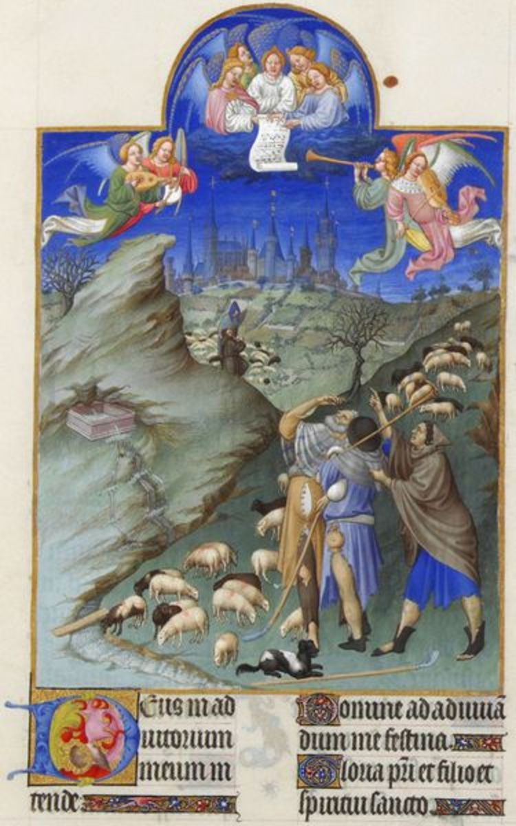 The Annunciation to the Shepherds from Les Tres Riches Heures du Duc de Berry