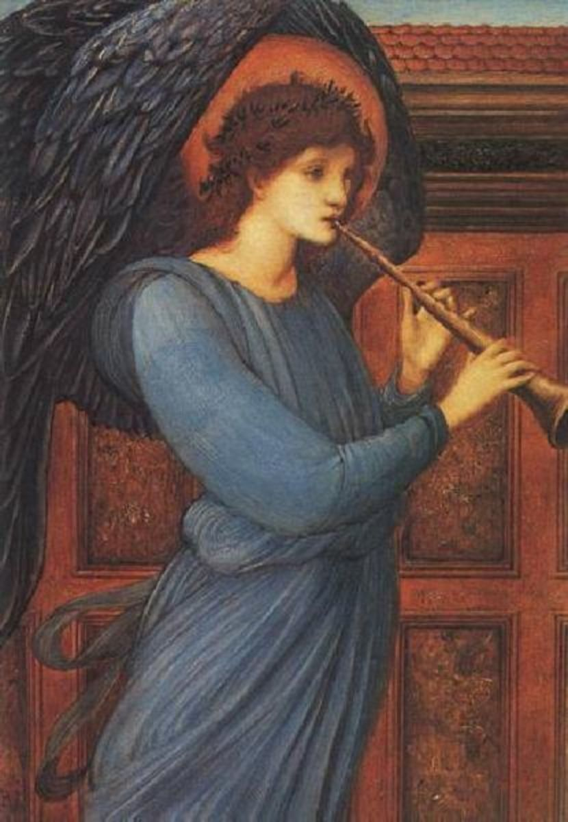 The Angel by Sir Edward Burne-Jones, 1881. Image courtesy of Wiki Commons