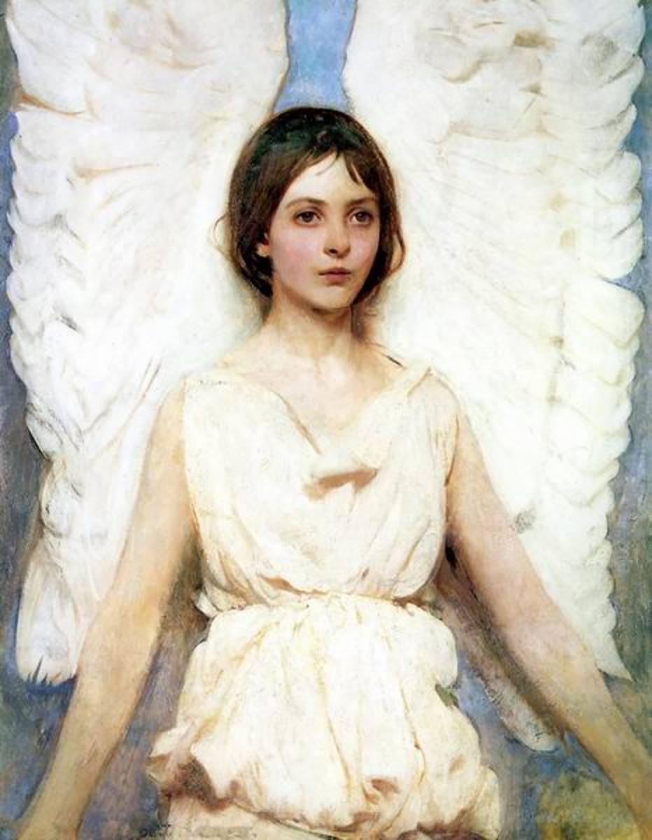 Angel by Abbott Thayer, 1889, courtesy of WikiCommons.