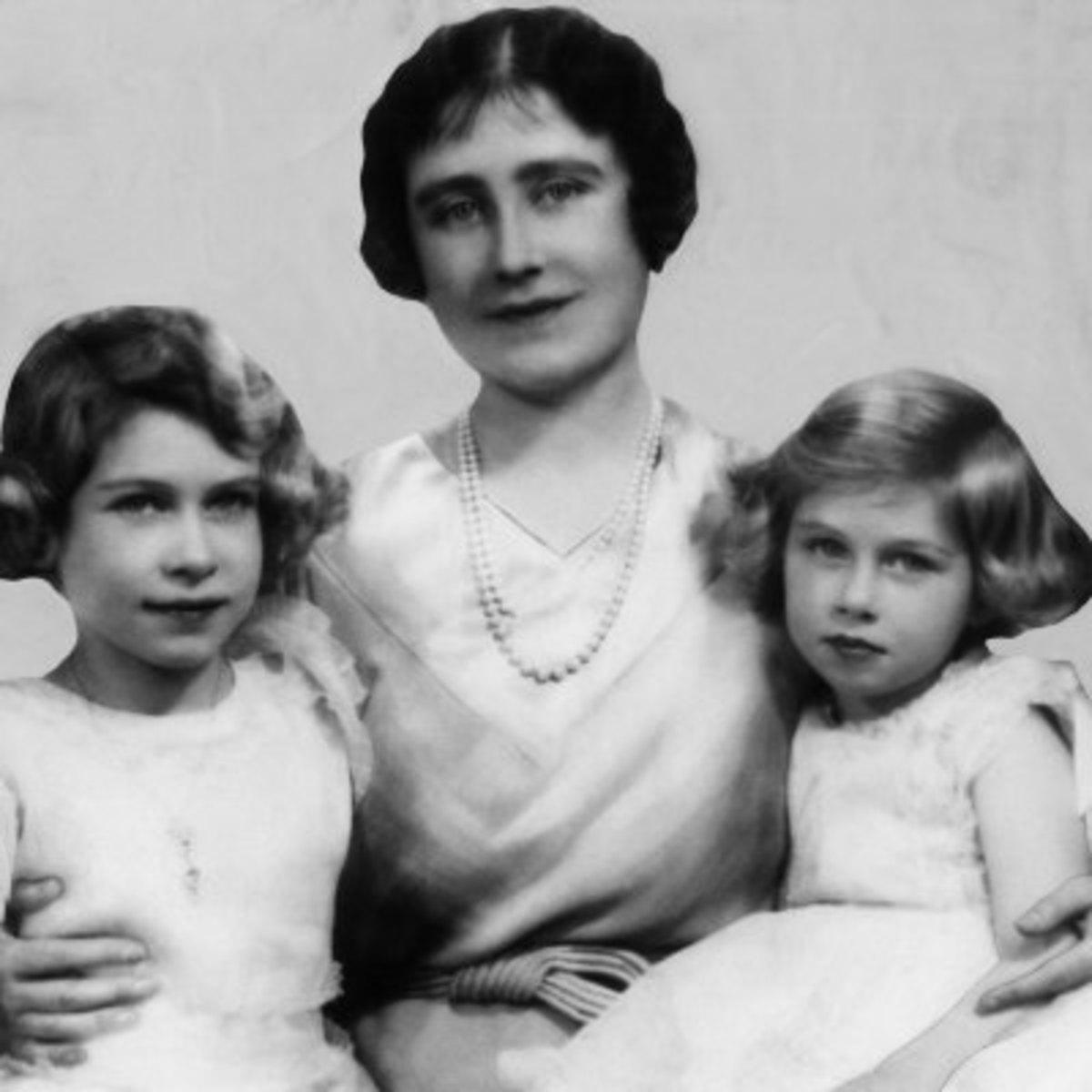 Queen Mother, Princess Elizabeth (future Queen), and Princes Margaret courtesy of allposters.com