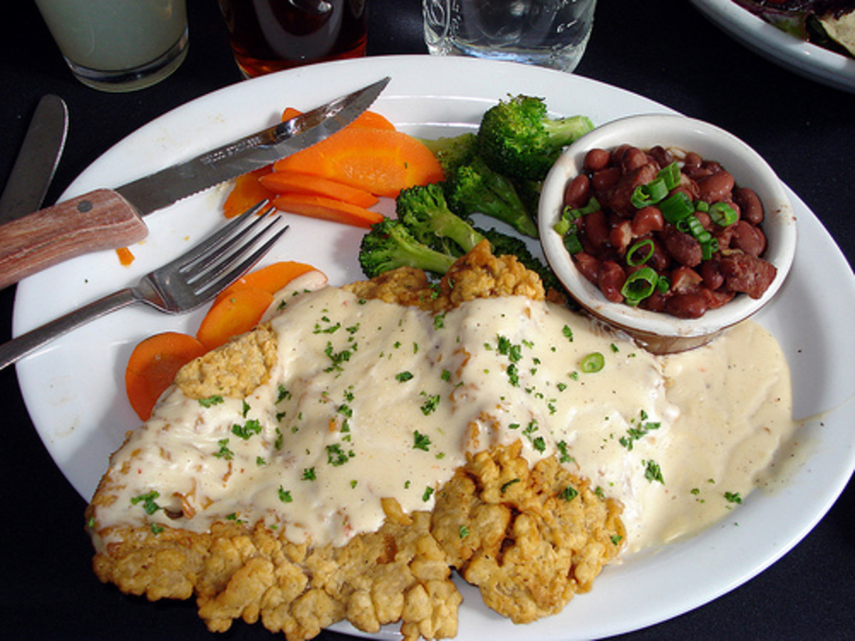 Chicken Fried Steak with Milk Gravy. A Great Southern Recipe