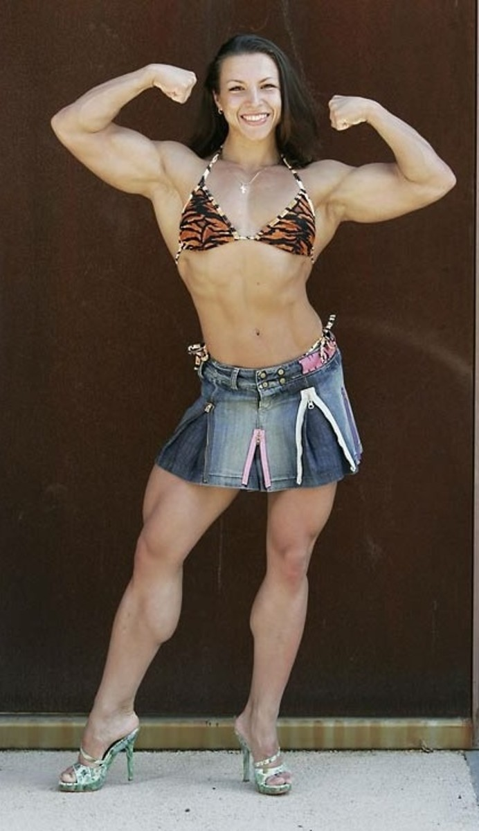 Russian female bodybuilder Olga Guryeva