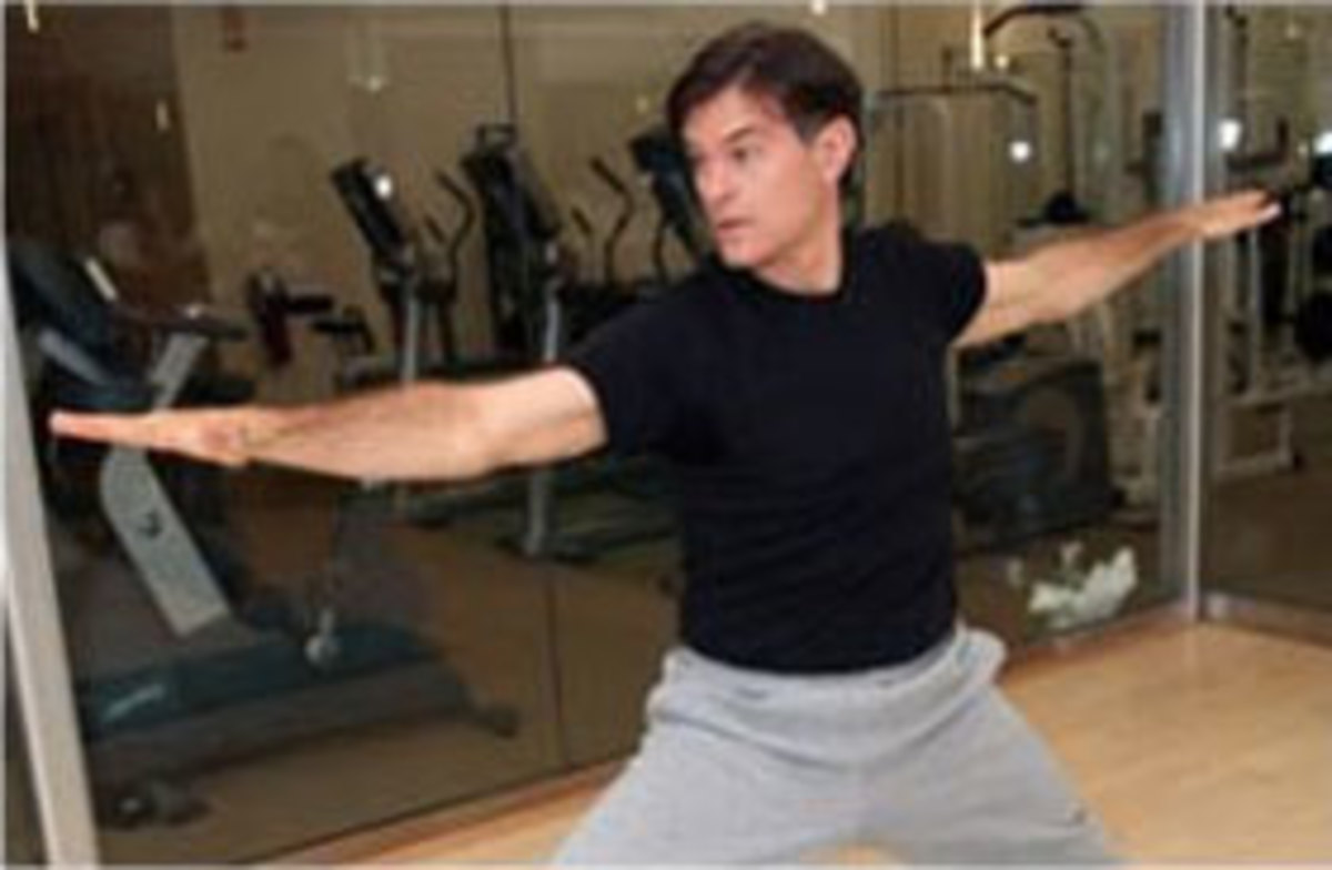 Dr Mehmet Oz in an active pose