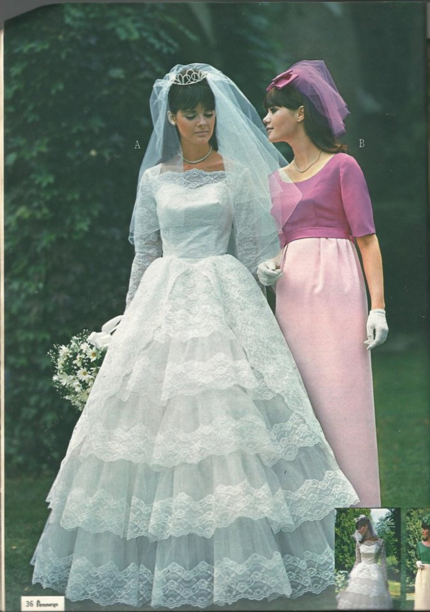 Vintage wedding style as shown in this J.C. Penney Fall & Winter 1963 catalog