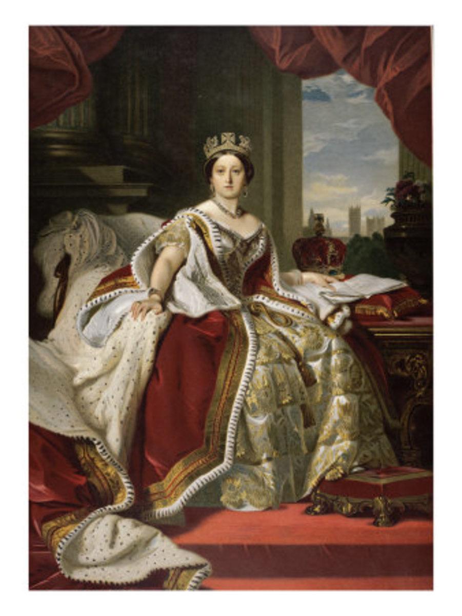 Painting of Queen Victoria by Franz Xavier Winterhalter