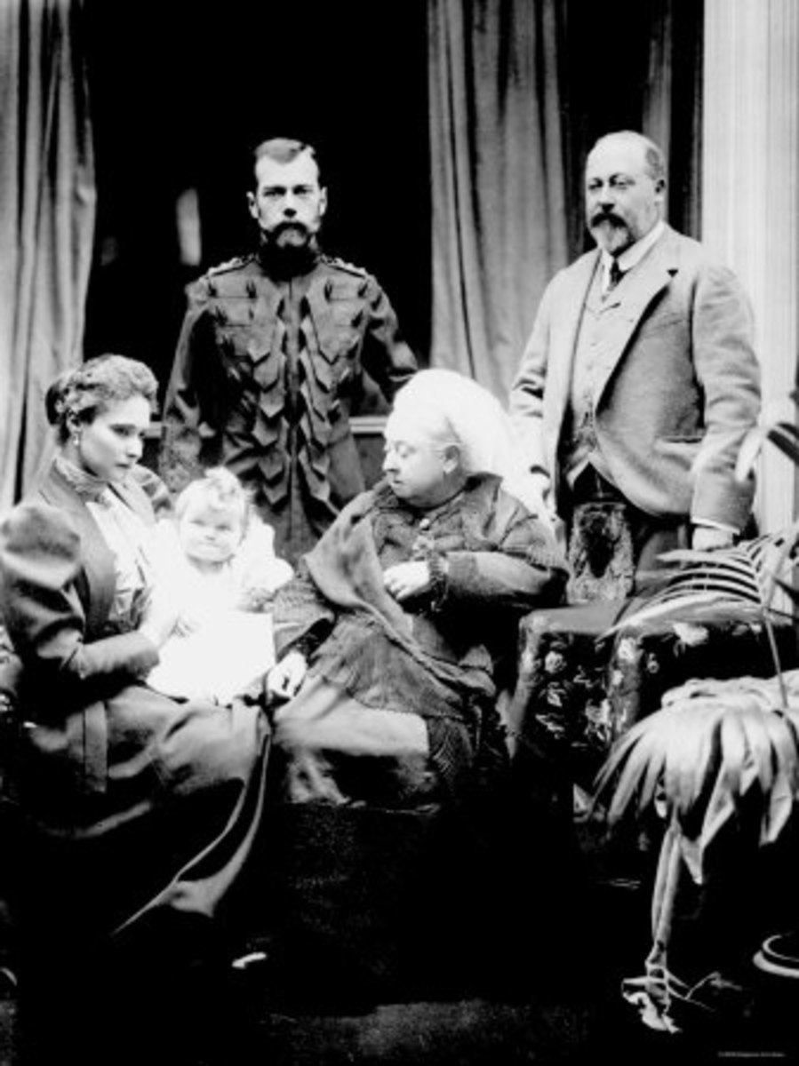 Queen Victoria 1896 with the Russian Czar's family