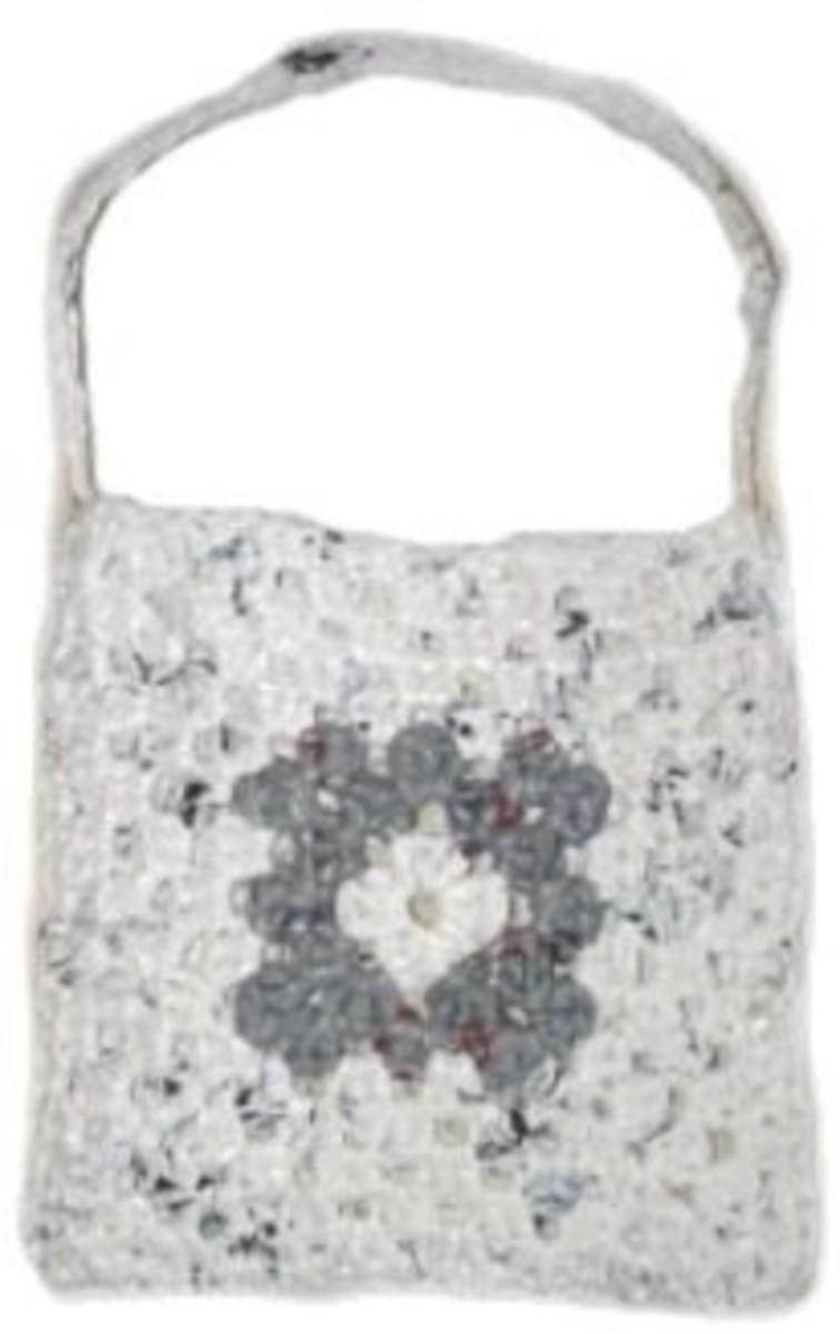 """Granny Square """"Plarn"""" bag"""
