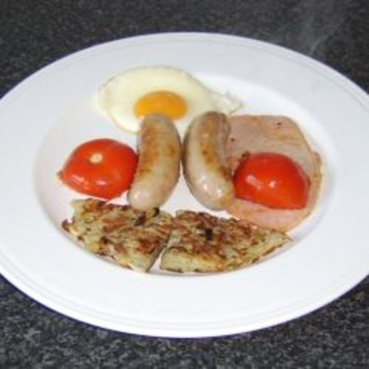 A slightly different but healthier take on a full English breakfast