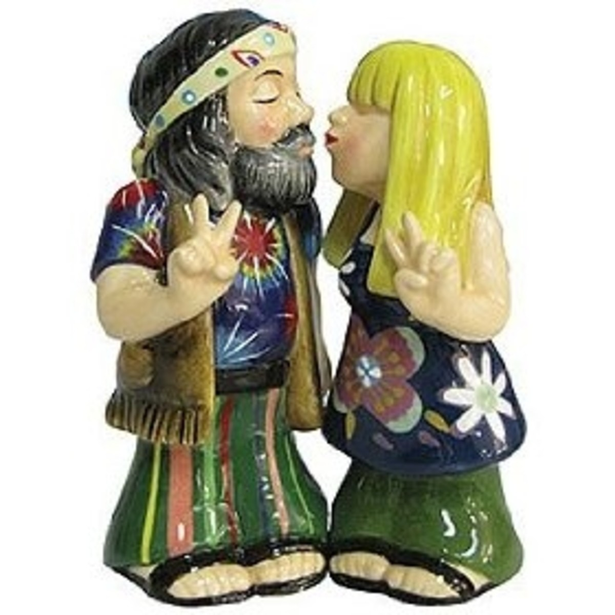 Hippie Couple Magnetic Shakers Set