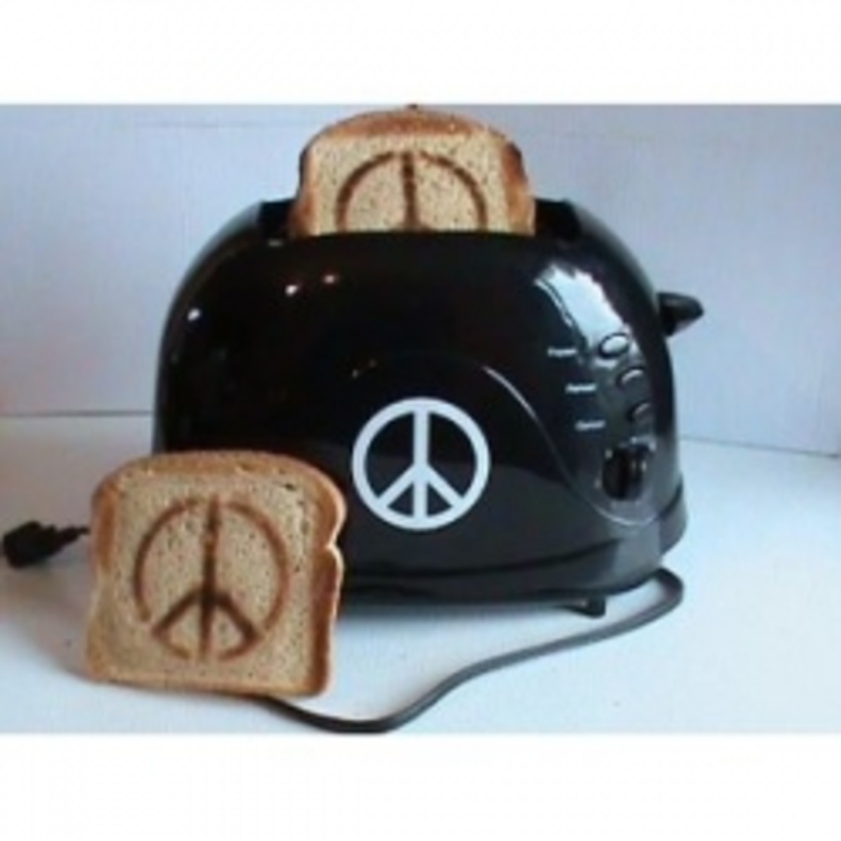 Peace Sign Toaster ~ Hippie Approved