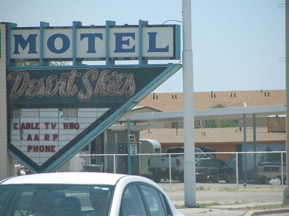 Motels on Route 66 in Flagstaff, Arizona