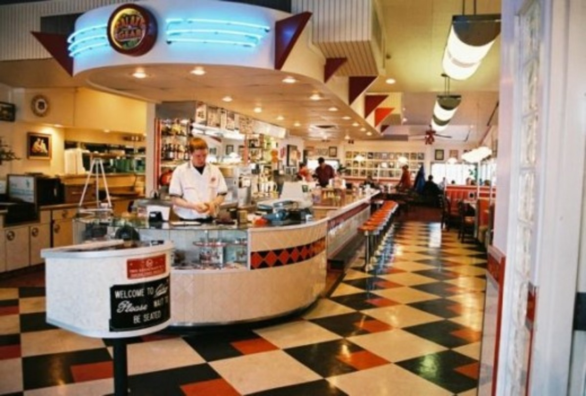 The Galaxy Diner on Route 66 in Flagstaff