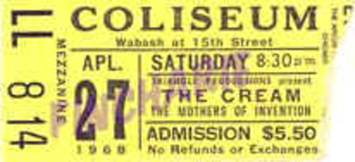 Cream Concert - Chicago Coliseum 1968