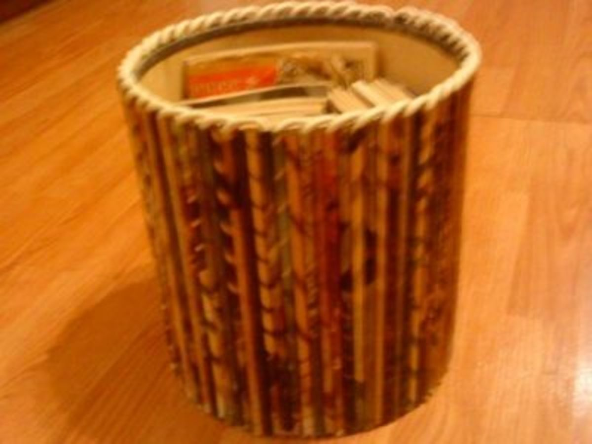 Reuse Magazine Pages to Make a Magazine Holder!