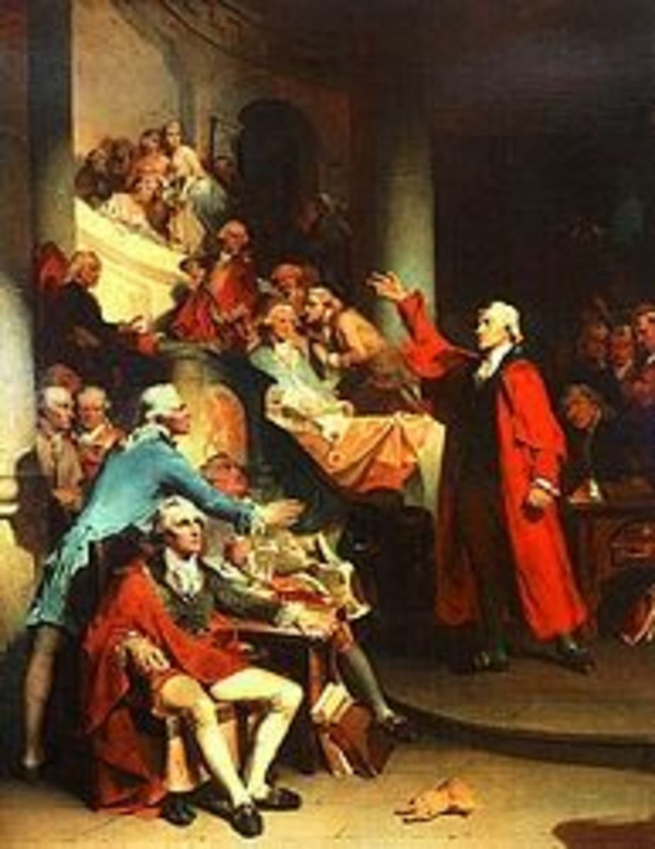 Patrick Henry addressing the House of Burgesses