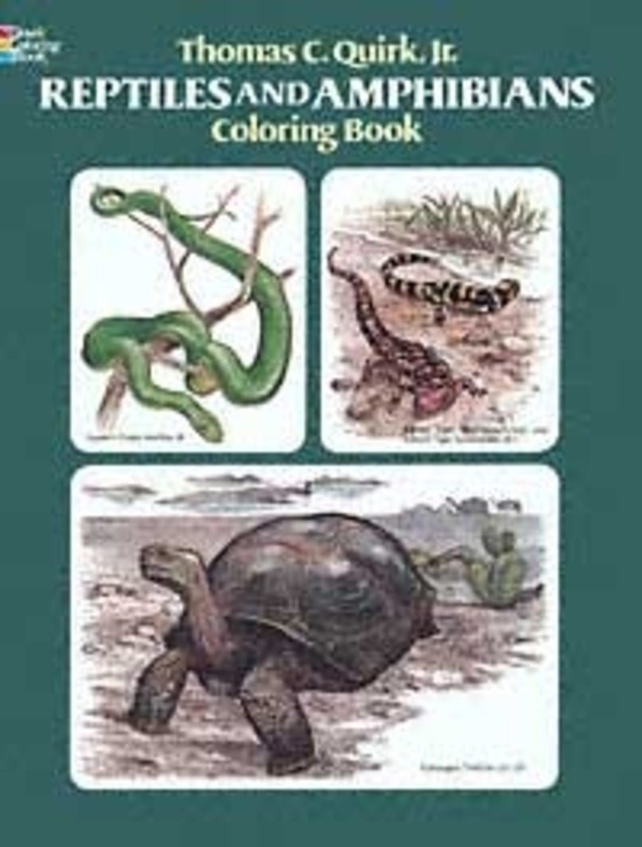 Dover Reptiles and Amphibians Coloring Book