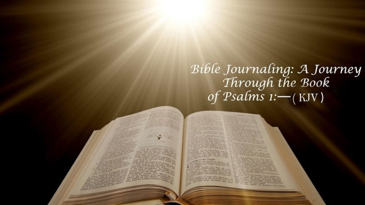 Bible Journaling: A Journey Through the Book of Psalms 1 (KJV)
