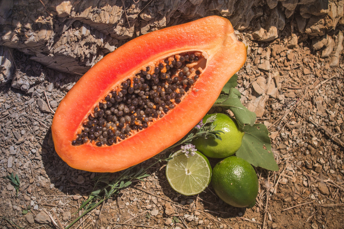Both papaya and lime can help reduce dark spots on the skin.