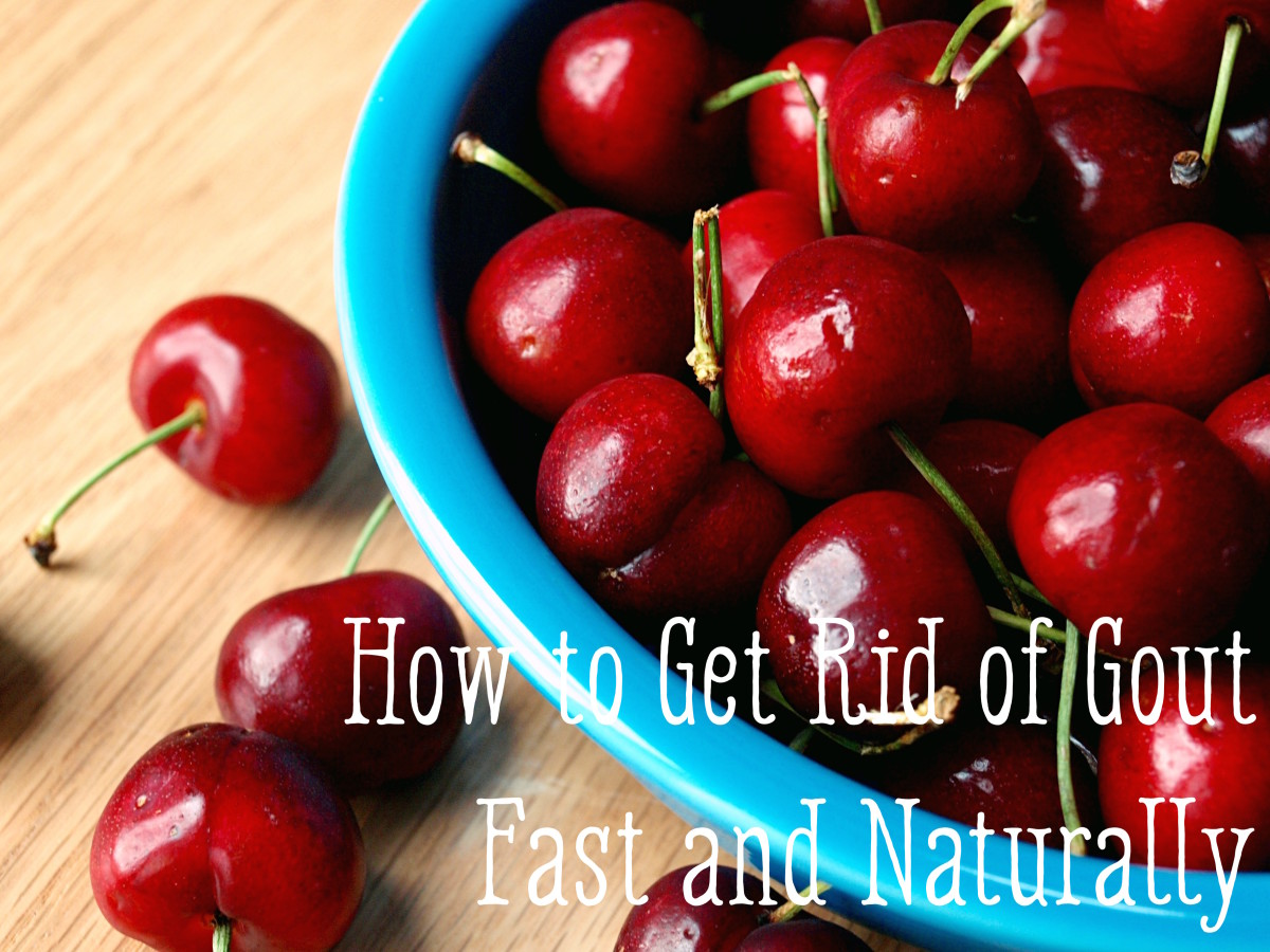 Cherries are one of many great ways to get rid of gout naturally.