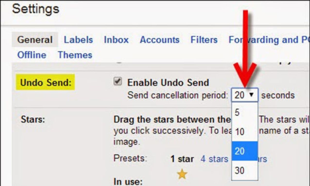 Gmail-how to undo send the email I send?
