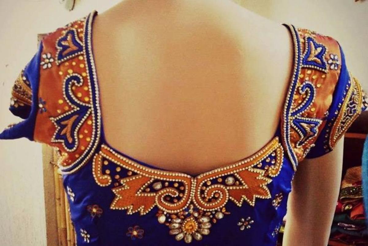 A stylish blouse back.