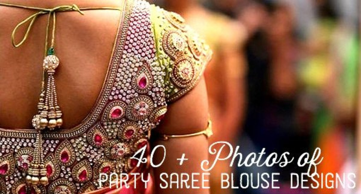40+ Photos of Party Saree Blouse Designs