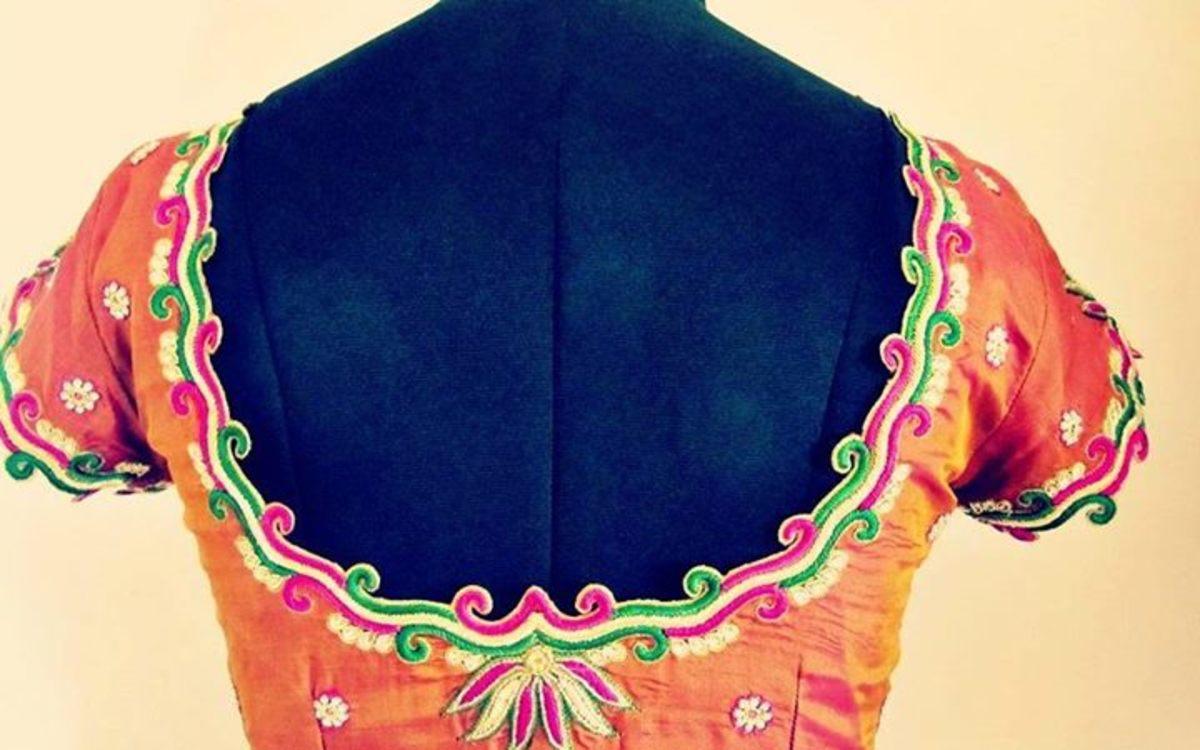Wide round neck pattern.