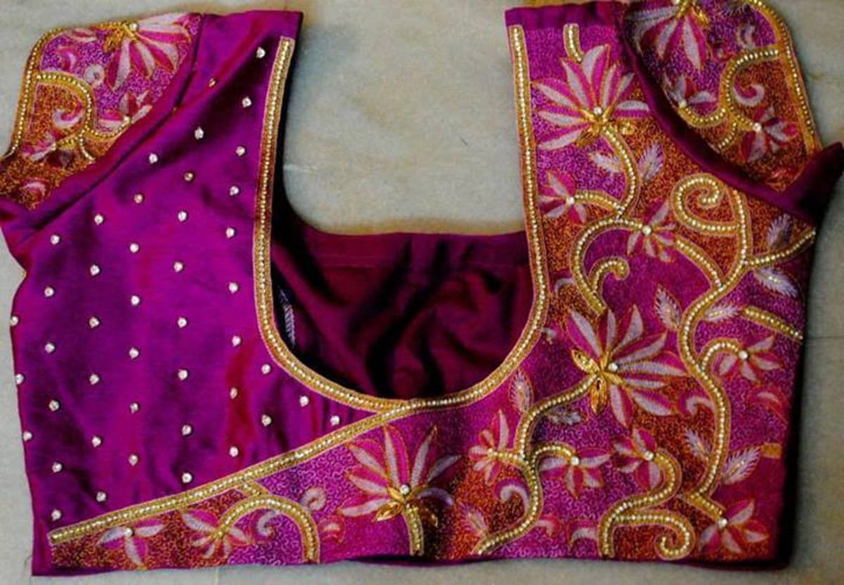 An embroidered blouse.