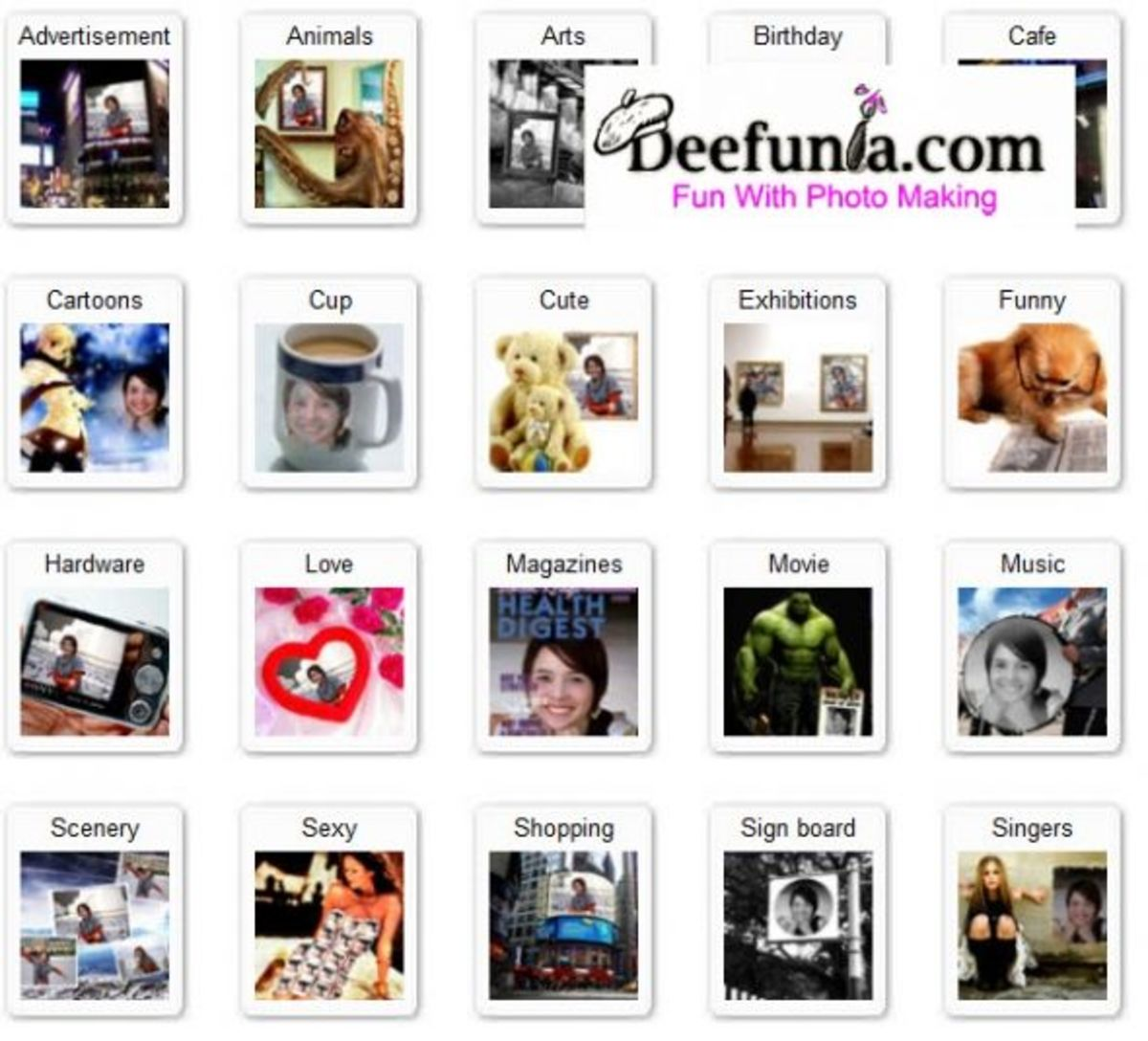 Deefunia Photo Options - Click the image below for a view of Deefunia ...