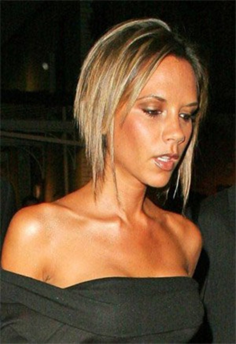 Victoria Beckham bob for limp thin hair.