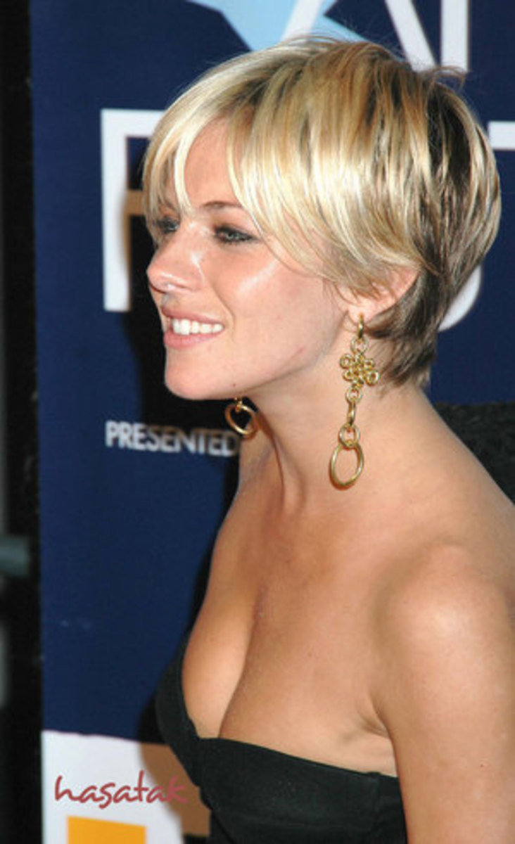 Cropped haircut for fine hair.