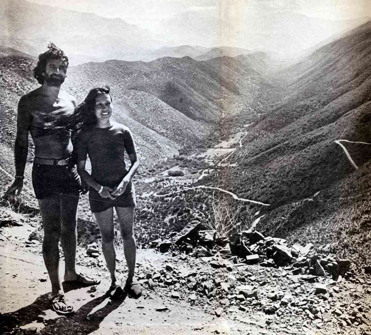 "Breyten and Yolande in South Africa. Photo from ""'n Seisoen in die Paradys."""
