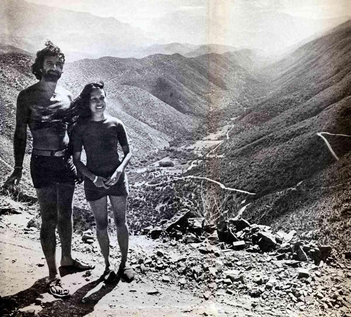 "Breyten and Yolande in South Africa. Photo from ""'n Seisoen in die Paradys."""