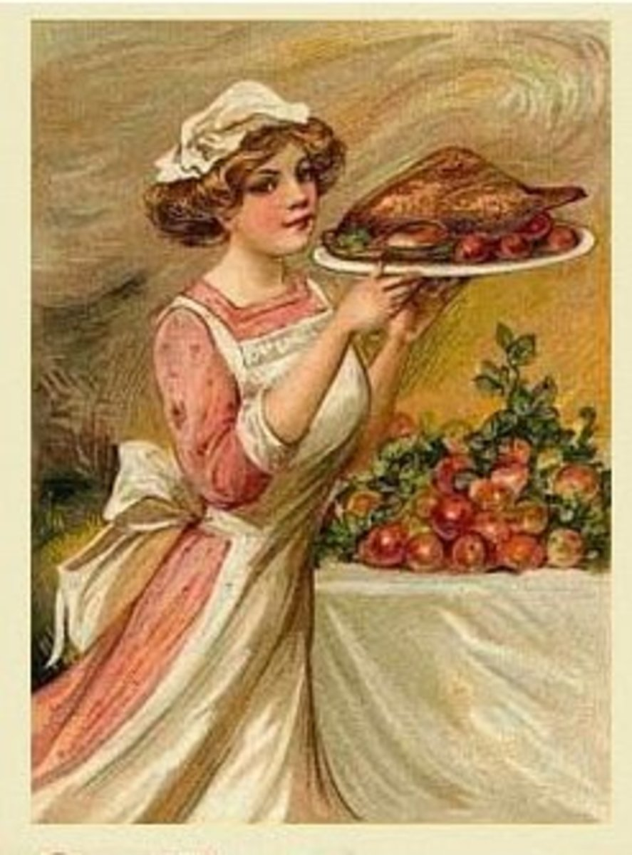 thanksgiving-cross-stitch-pattern-girl-with-thanksgiving-dinner