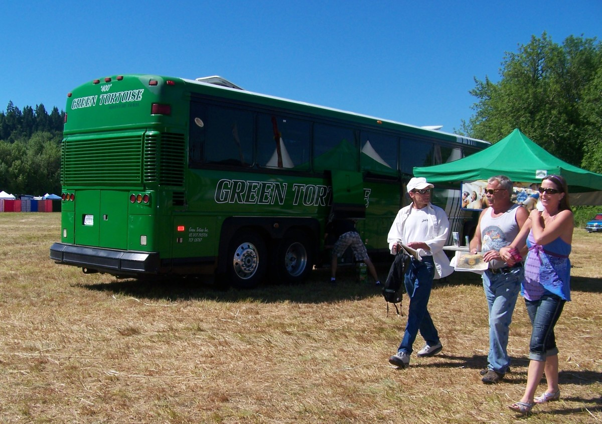 The Green Tortoise offers adventure bus tours for socially conscious travelers.