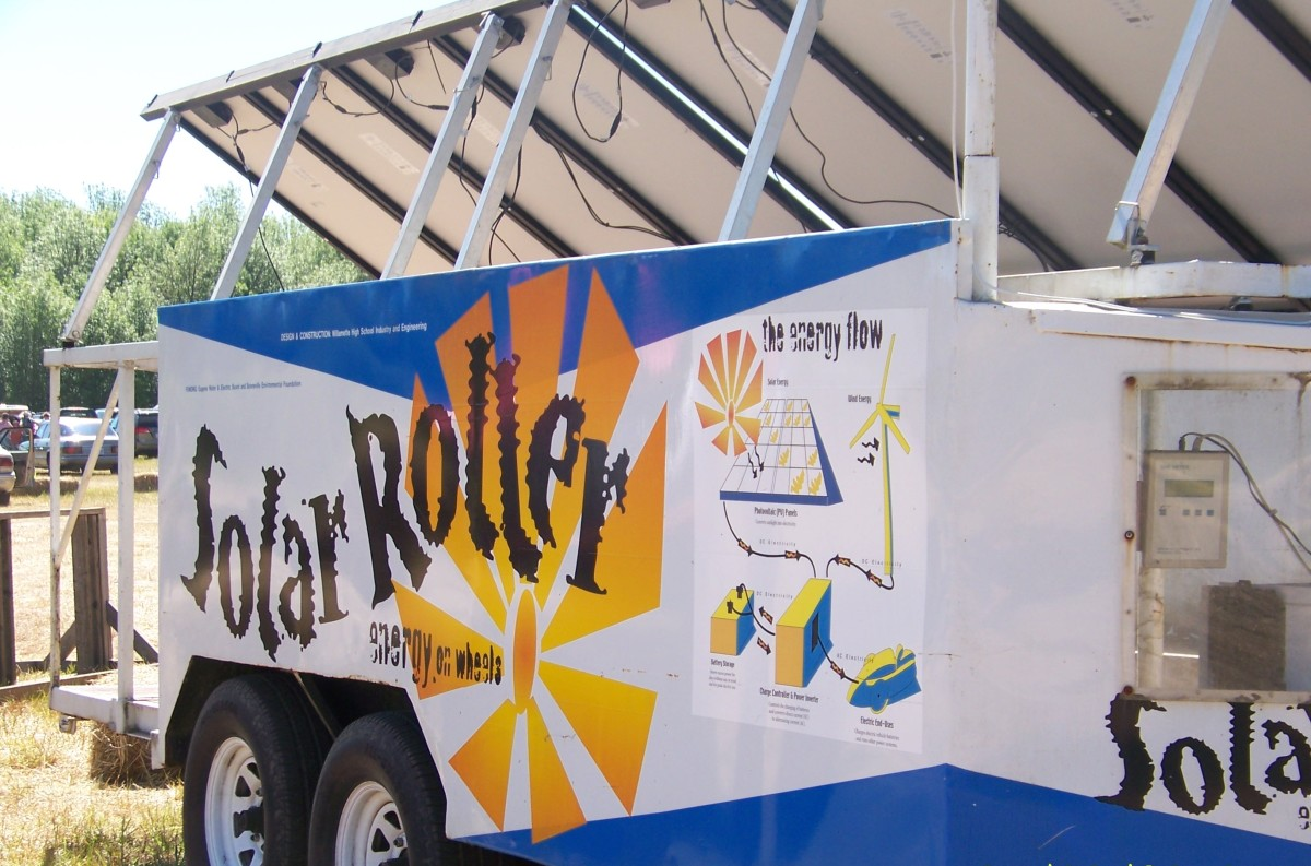 The Solar Roller: solar-powered energy on wheels.